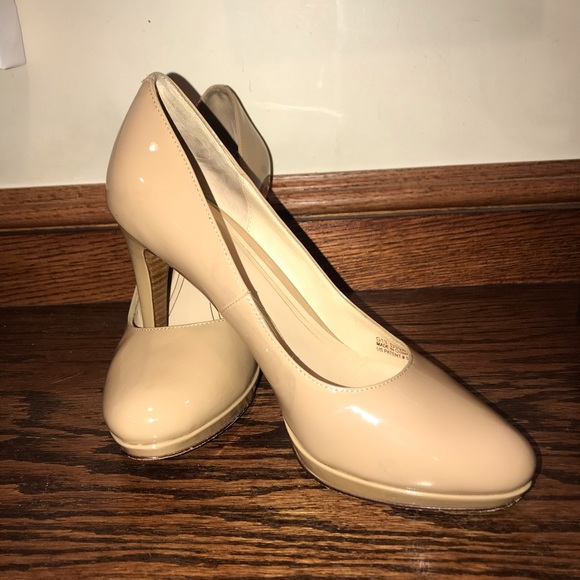 cole haan nike air tan patent leather heels